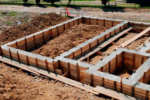 Строительство фундамента под дом цены