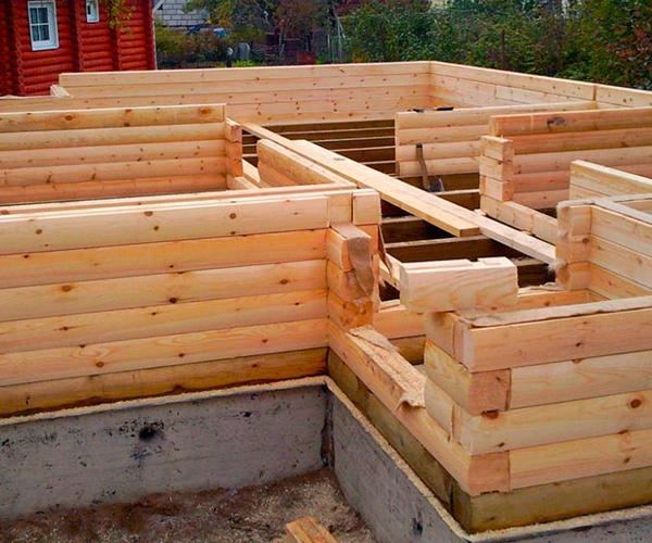 Ленточный фундамент для дома из бруса