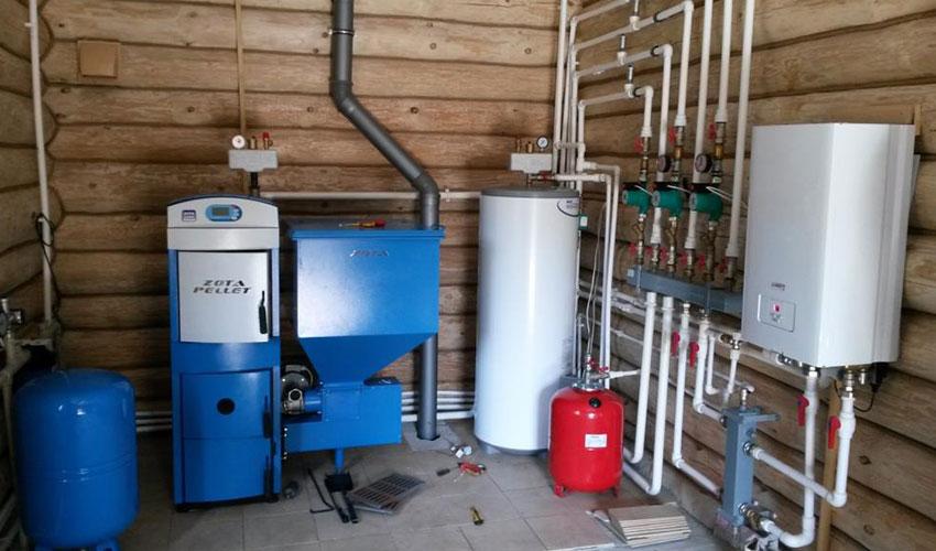 Монтаж котлов отопления в частном доме в Казани